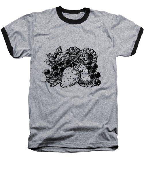 Berries From Forest Baseball T-Shirt by Irina Sztukowski