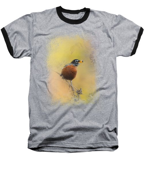 Berries In The Woods Baseball T-Shirt by Jai Johnson