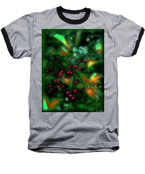 Berries Baseball T-Shirt by Iowan Stone-Flowers