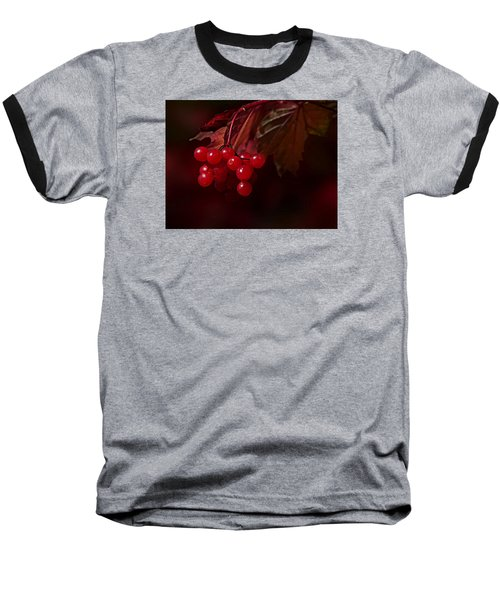 Baseball T-Shirt featuring the photograph Berry Red by Judy  Johnson