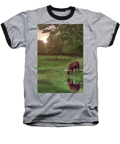 Beside Still Waters Baseball T-Shirt by Mark Fuller