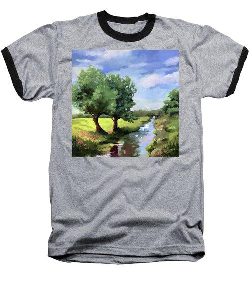 Beside The Creek - Original Rural Landscape  Baseball T-Shirt