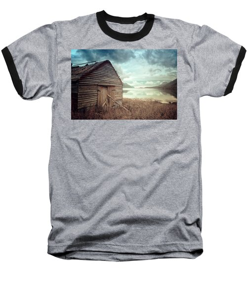 Beside The Lake Baseball T-Shirt