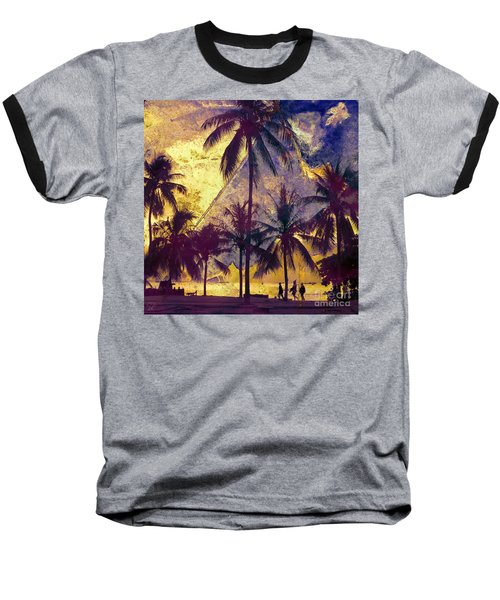 Baseball T-Shirt featuring the photograph Beside The Sea by LemonArt Photography