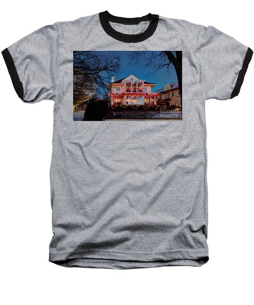 Best Christmas Lights Lake Of The Isles Minneapolis Baseball T-Shirt