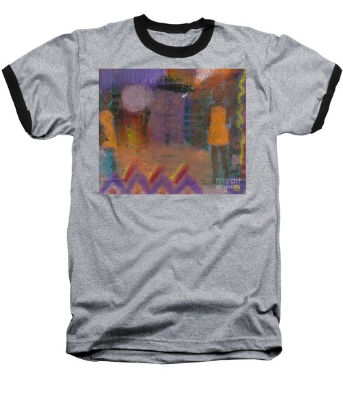 Baseball T-Shirt featuring the painting Best Friends by Angela L Walker