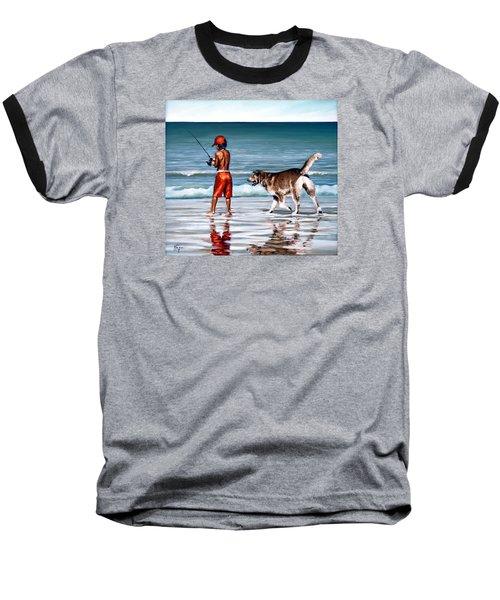 Best Friends II Baseball T-Shirt by Natalia Tejera