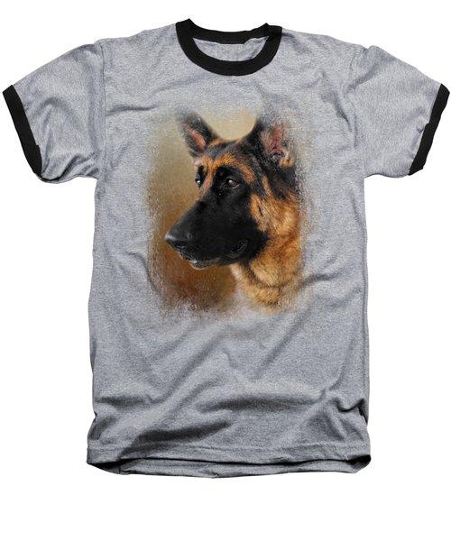 Best In Show - German Shepherd Baseball T-Shirt by Jai Johnson