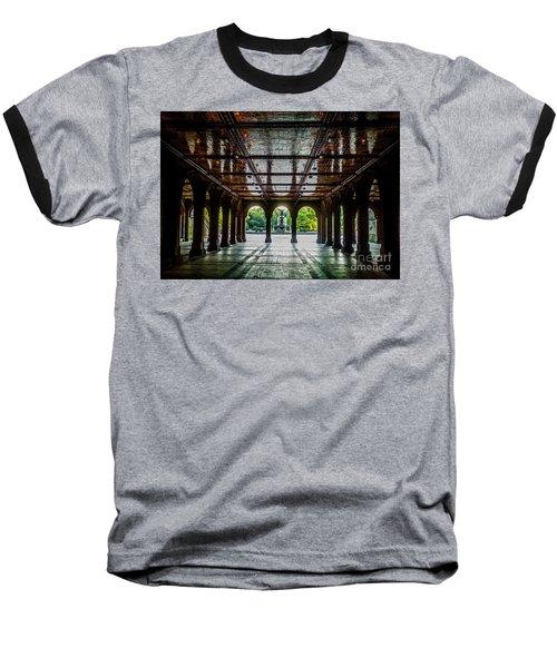 Bethesda Terrace Arcade 2 Baseball T-Shirt