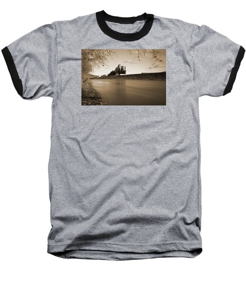 Bethlehem Steel Along The Lehigh Baseball T-Shirt by Jennifer Ancker