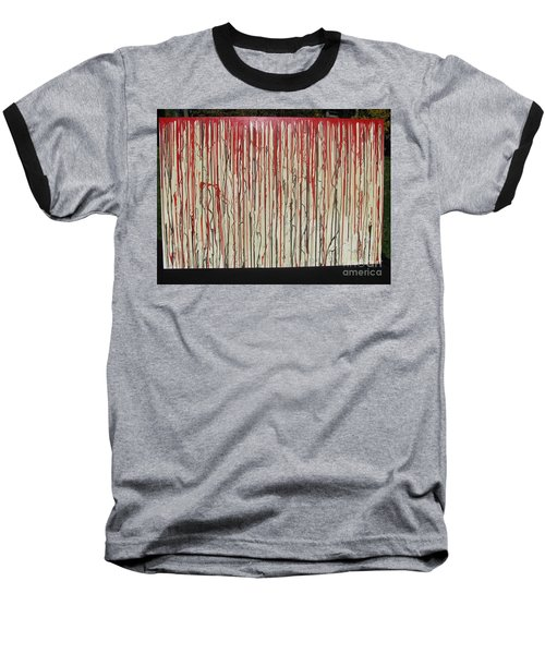 Baseball T-Shirt featuring the painting Betrayal by Jacqueline Athmann