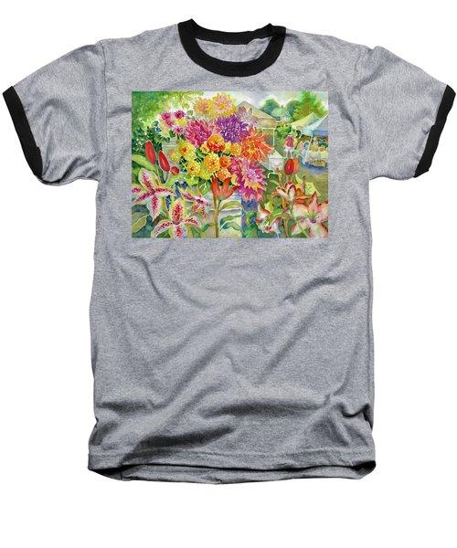 Betsy's Dahlias II Baseball T-Shirt