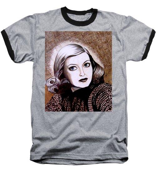 Bette Davis 1941 Baseball T-Shirt by Tara Hutton