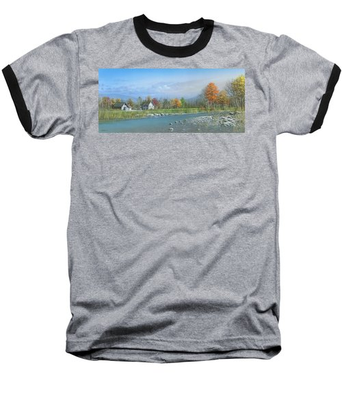 Baseball T-Shirt featuring the painting Better Days by Mike Brown