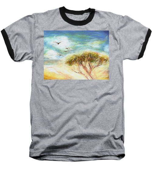 Baseball T-Shirt featuring the drawing Betty's Tree by Denise Fulmer
