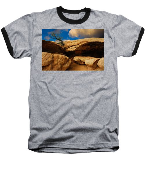 Baseball T-Shirt featuring the photograph Between A Rock And A Hard Place by Harry Spitz