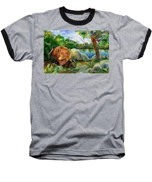 Between A Rock And Hardplace Baseball T-Shirt