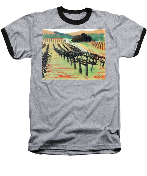 Baseball T-Shirt featuring the painting Between Crops by Gary Coleman