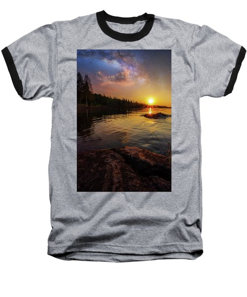 Between Heaven And Earth Baseball T-Shirt by Rose-Marie Karlsen