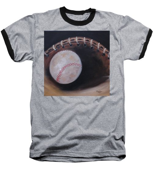 Baseball T-Shirt featuring the painting Between Innings by Judith Rhue