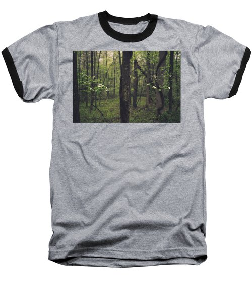 Between The Dogwoods Baseball T-Shirt by Shane Holsclaw