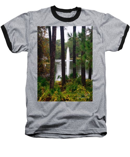 Between The Fountain Baseball T-Shirt by Lori Mellen-Pagliaro