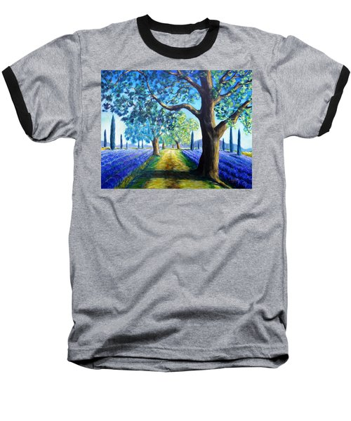 Between The Lavender Fields Baseball T-Shirt