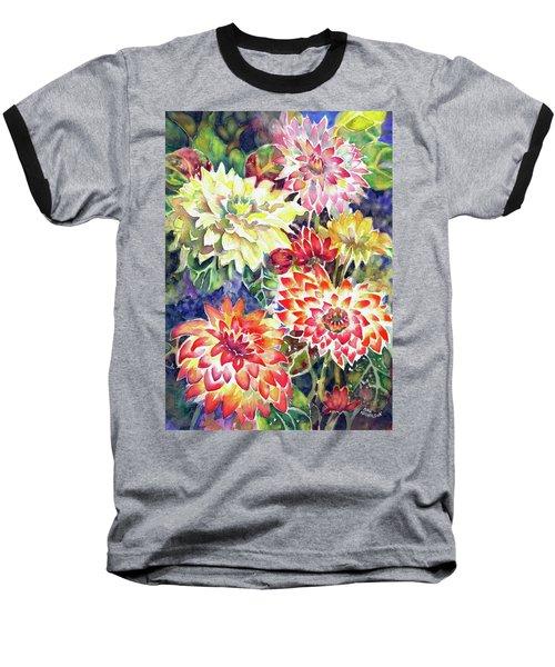 bety's Dahlias Baseball T-Shirt
