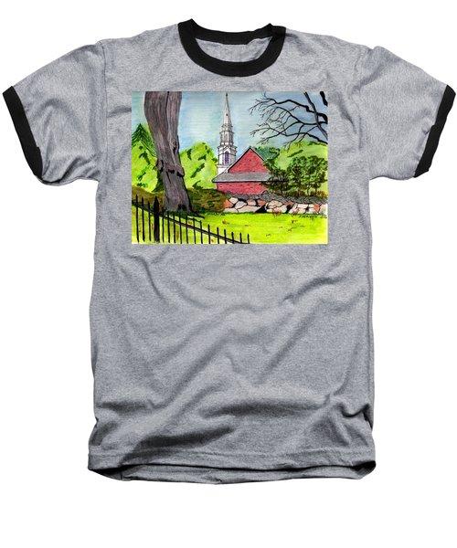 Beverly First Baptist Church Baseball T-Shirt by Paul Meinerth