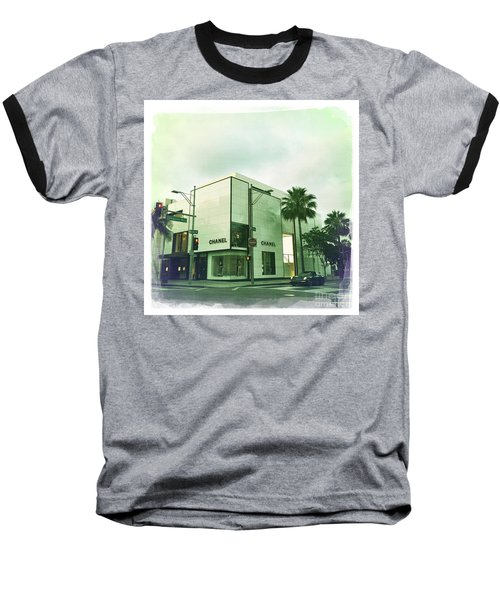 Beverly Hills Rodeo Drive 13 Baseball T-Shirt by Nina Prommer