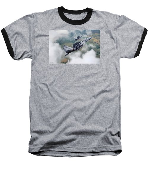 Beware Of Bulldogs Baseball T-Shirt by Peter Chilelli