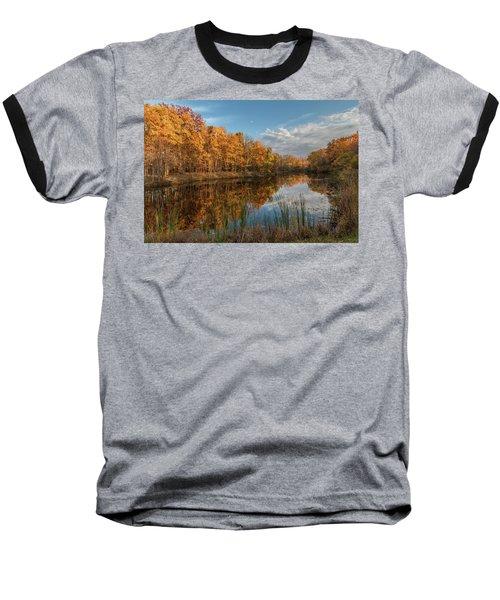Beyer's Pond In Autumn Baseball T-Shirt
