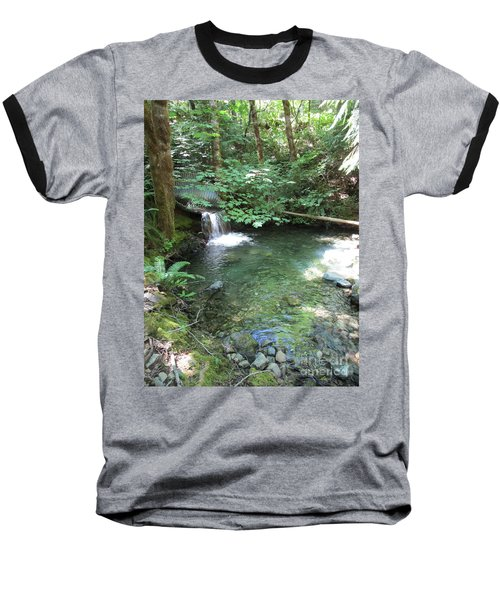 Baseball T-Shirt featuring the photograph Beyond The End Of The Trail At Limpy Creek by Marie Neder