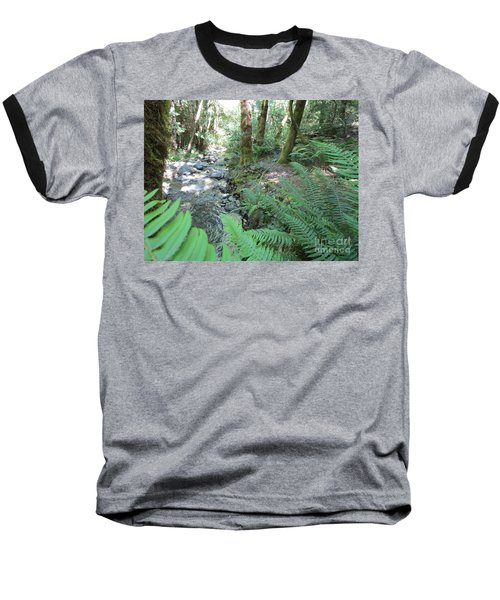 Baseball T-Shirt featuring the photograph Beyond The Ferns by Marie Neder