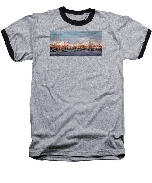 Beyond The Surge Baseball T-Shirt by Roberta Rotunda