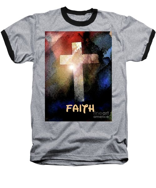Baseball T-Shirt featuring the painting Biblical-faith by Terry Banderas