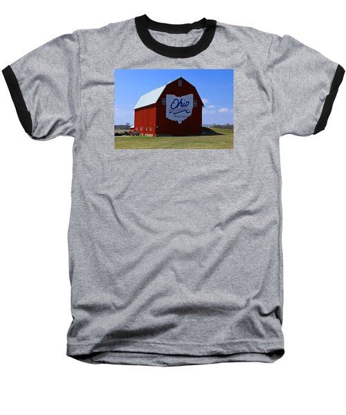 Bicentennial Barn  Baseball T-Shirt by Michiale Schneider