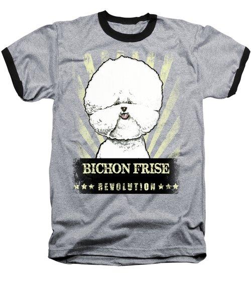 Bichon Frise Revolution Baseball T-Shirt