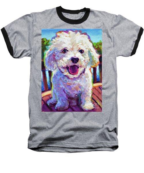 Bichon Frise Baseball T-Shirt by Robert Phelps