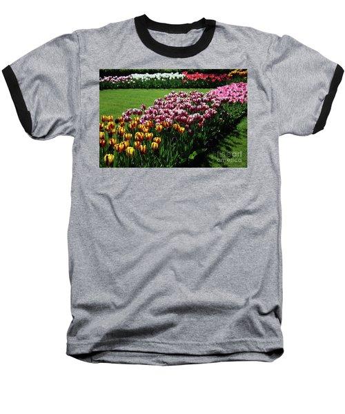Multicolor Tulips Baseball T-Shirt
