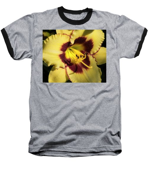 Baseball T-Shirt featuring the photograph Bicolored Lily by Jean Noren