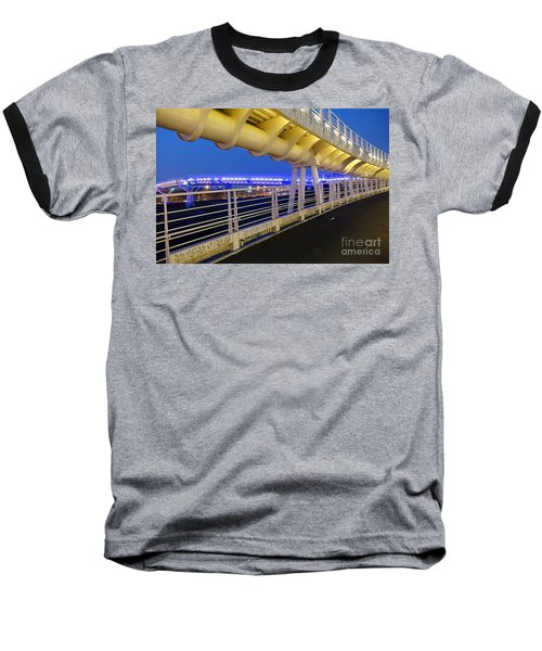 Bicycle And Pedestrian Overpass Baseball T-Shirt by Yali Shi