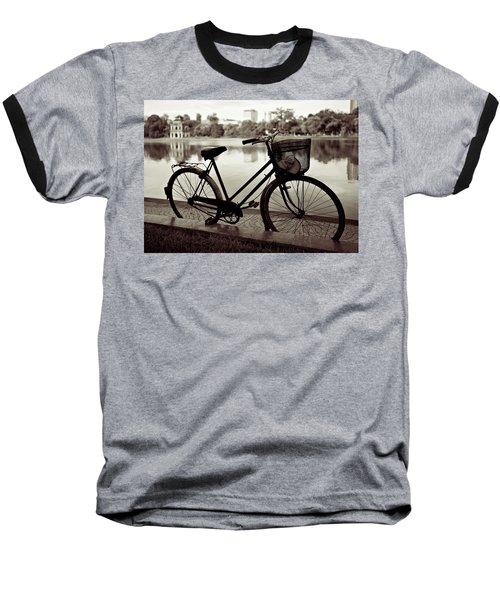 Bicycle By The Lake Baseball T-Shirt