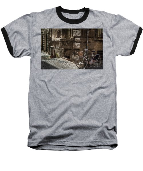 Bicycle In Rome, Italy Baseball T-Shirt