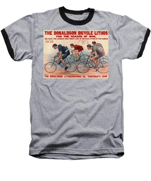 Baseball T-Shirt featuring the photograph Bicycle Lithos Ad 1896 by Padre Art