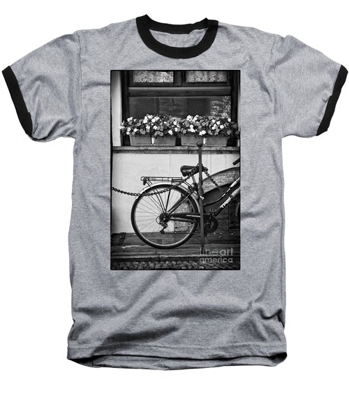 Bicycle With Flowers Baseball T-Shirt