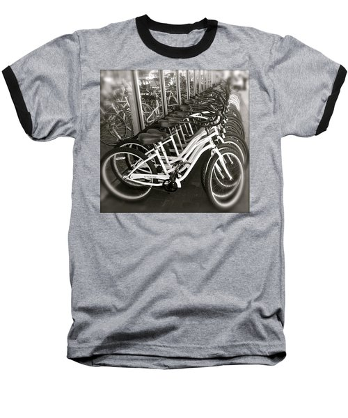 Bicycles In Belmont Shore Baseball T-Shirt