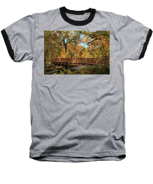 Baseball T-Shirt featuring the photograph Bidwell Park Bridge In Chico by James Eddy