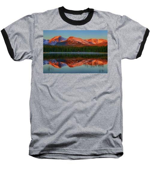 Bierstadt Alpenglow Baseball T-Shirt