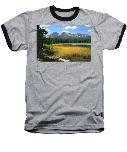 Baseball T-Shirt featuring the photograph Autumn At Bierstadt Lake by David Chandler
